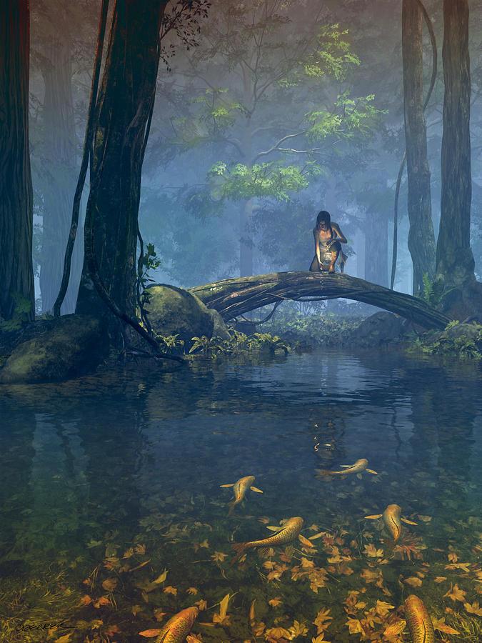 Fantasy Digital Art - Lantern Bearer by Cynthia Decker