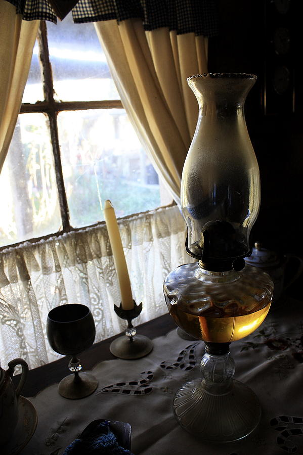 Lantern Photograph - Lantern In The Window. by Ian  Ramsay