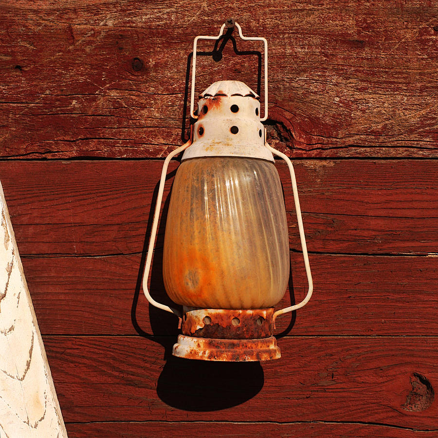 Lantern Photograph - Lantern On Red by Art Block Collections
