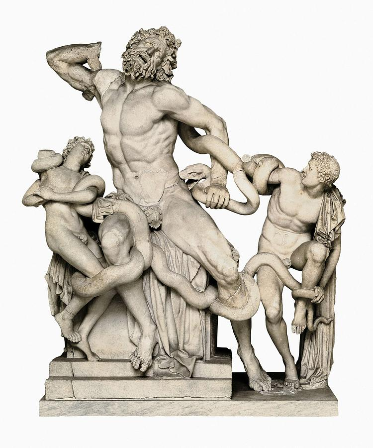 Vertical Photograph - Laocoon With His Sons. 1st C. Bc by Everett