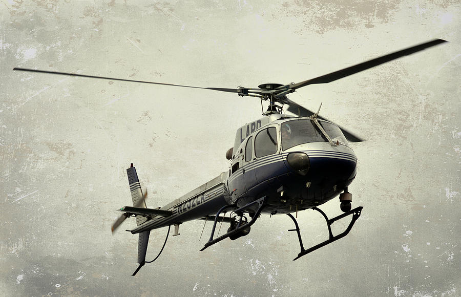 Lapd Helicopter Photograph - Lapd Helicopter by Fraida Gutovich