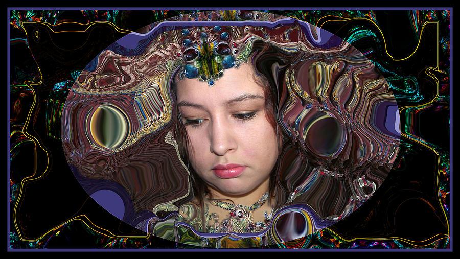 Portrait Digital Art - Lapislazuli Beauty by Otto Rapp