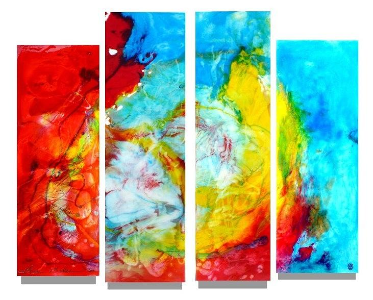 Large Abstract Epoxy Resin Art Painting by Tara Baden