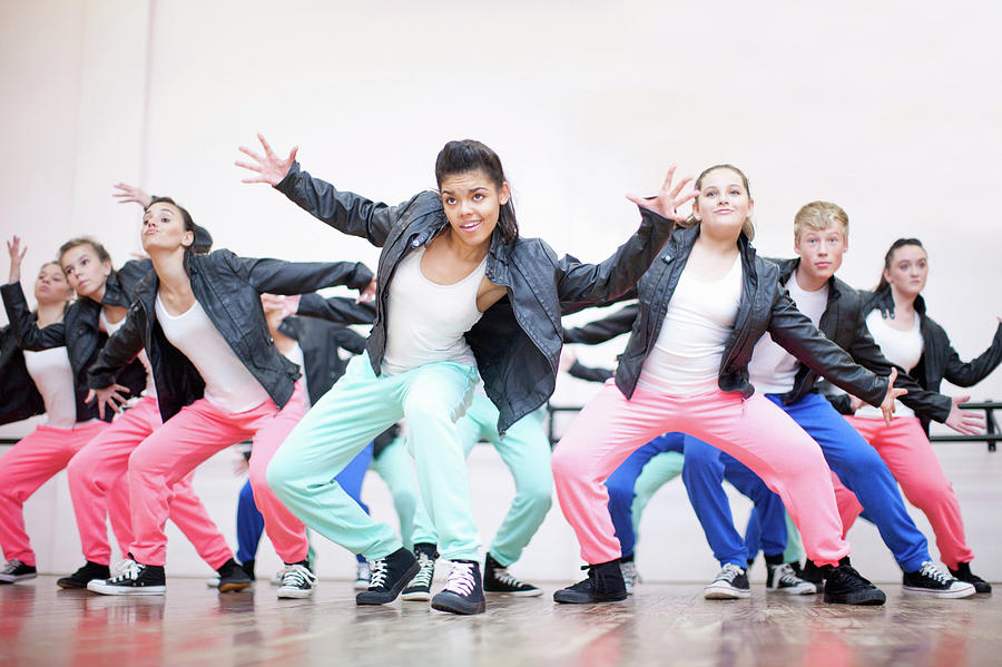 Large Group Of Teenagers Dancing In Photograph by Zero Creatives