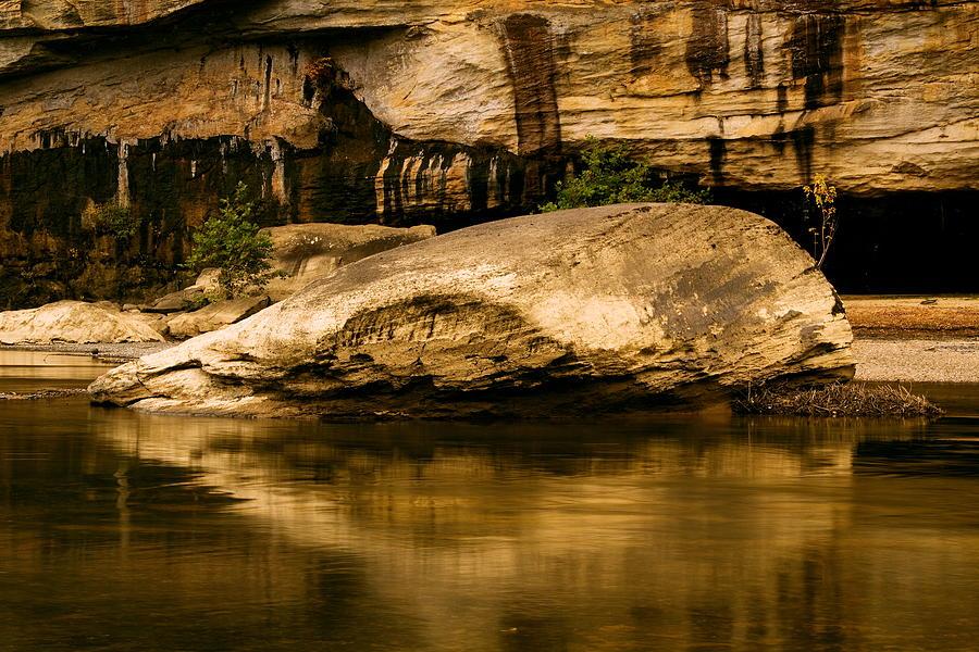 Kentucky Photograph - Large Rock In Cumberland River by Amanda Kiplinger