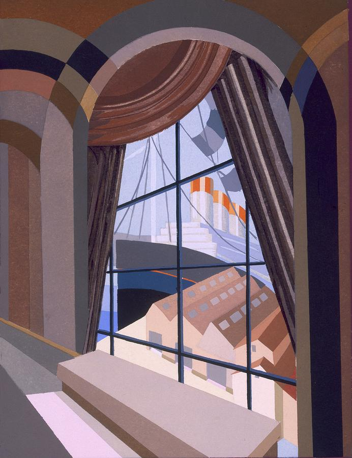 Design Painting - Large Window With A Seat, From Relais by Edouard Benedictus
