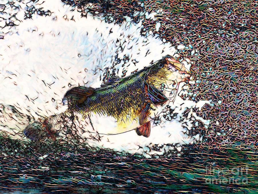 Largemouth Bass Photograph - Largemouth Bass P180 by Wingsdomain Art and Photography