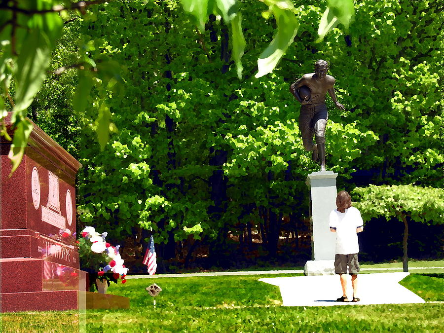 Jim Thorpe Pa Photograph - Larger Than Life - Jim Thorpe Monument by Jacqueline M Lewis