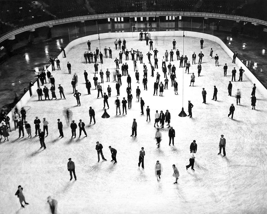Largest Ice Skating Rink Photograph by Underwood Archives