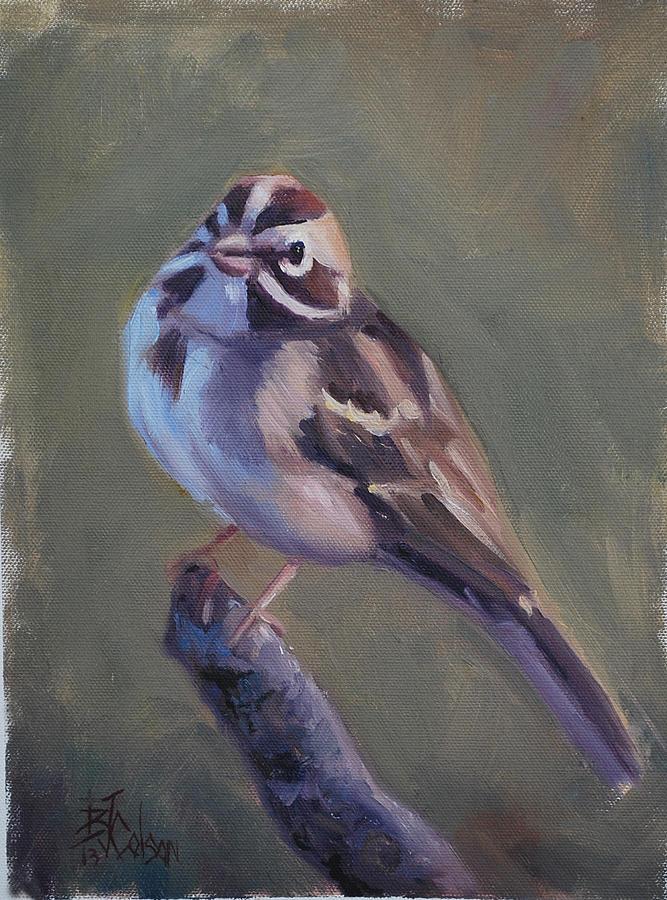 693db656b Lark Sparrow Painting by Billie Colson