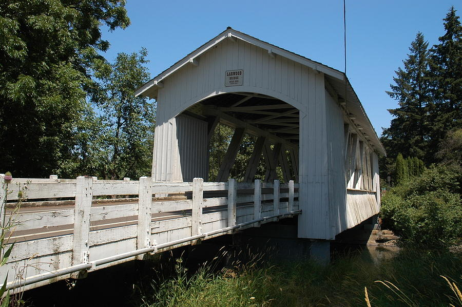 Covered Bridge Photograph - Larlwood Bridge by Gene McKinley