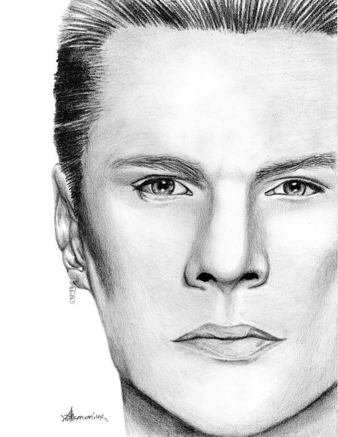 Larry Drawing - Larry Mullen Jr. by Kayleigh Semeniuk