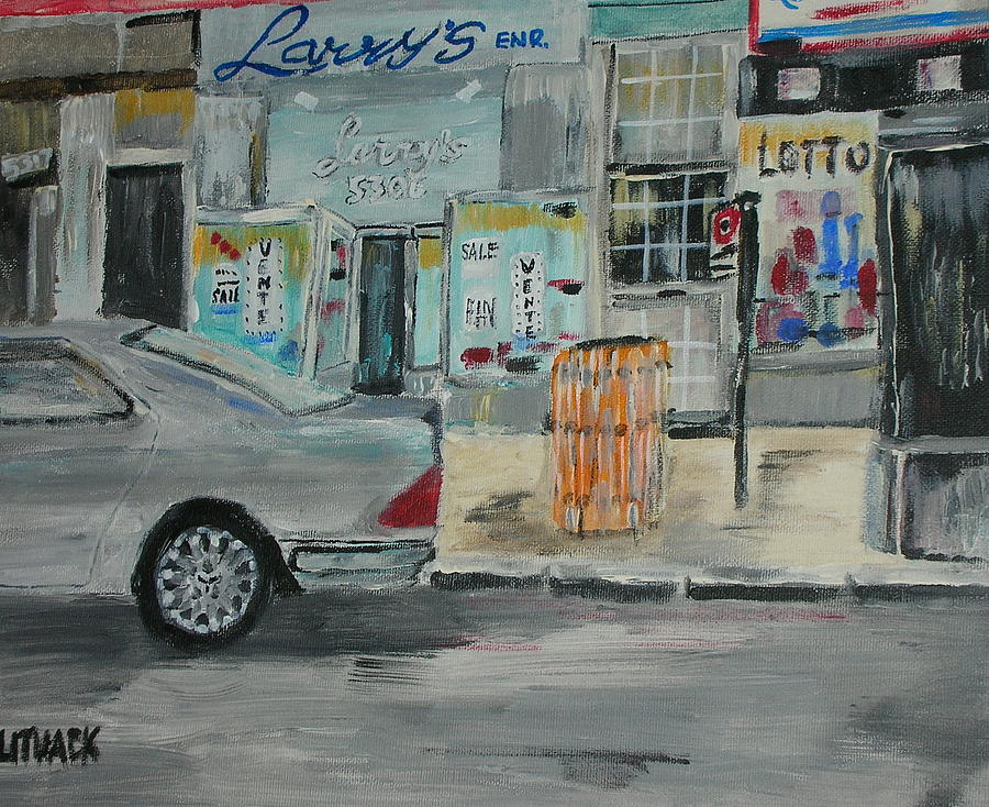 Storefront Painting - Larrys Queen Mary by Michael Litvack