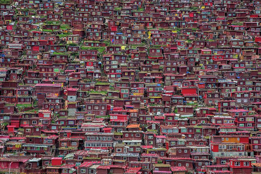 Architecture Photograph - Larung Gar by Tianyu
