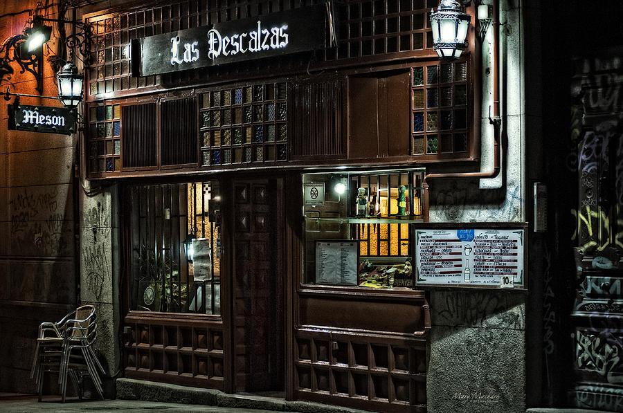 Restaurant Photograph - Las Descalzas - Madrid by Mary Machare