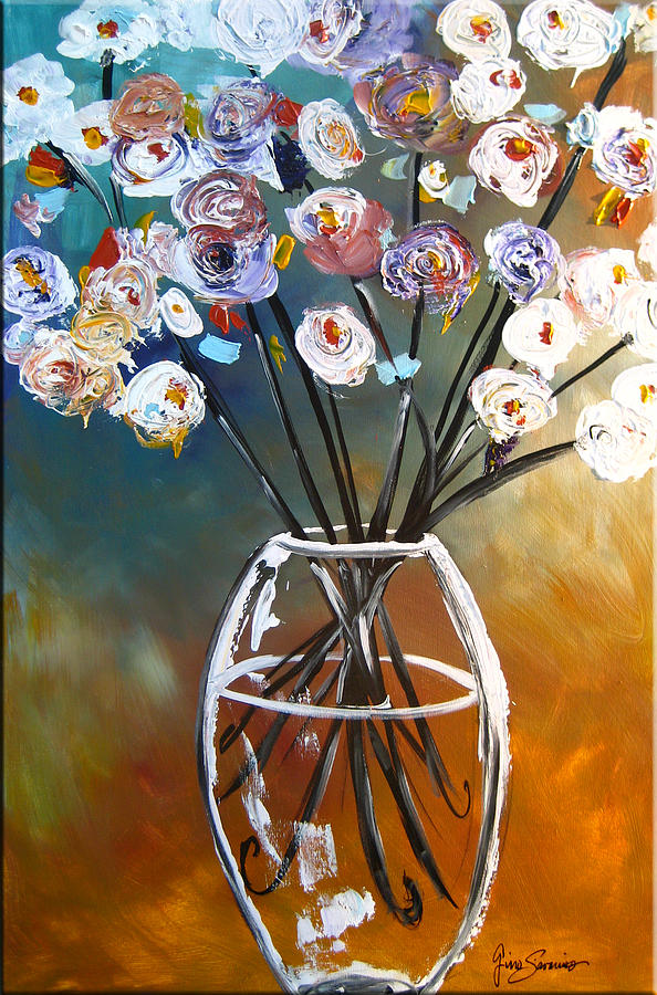 Vibrant Painting - Las Flores by Gino Savarino