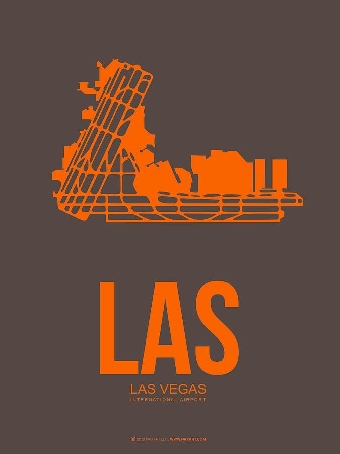 Las Vegas Digital Art - Las Las Vegas Airport Poster 1 by Naxart Studio