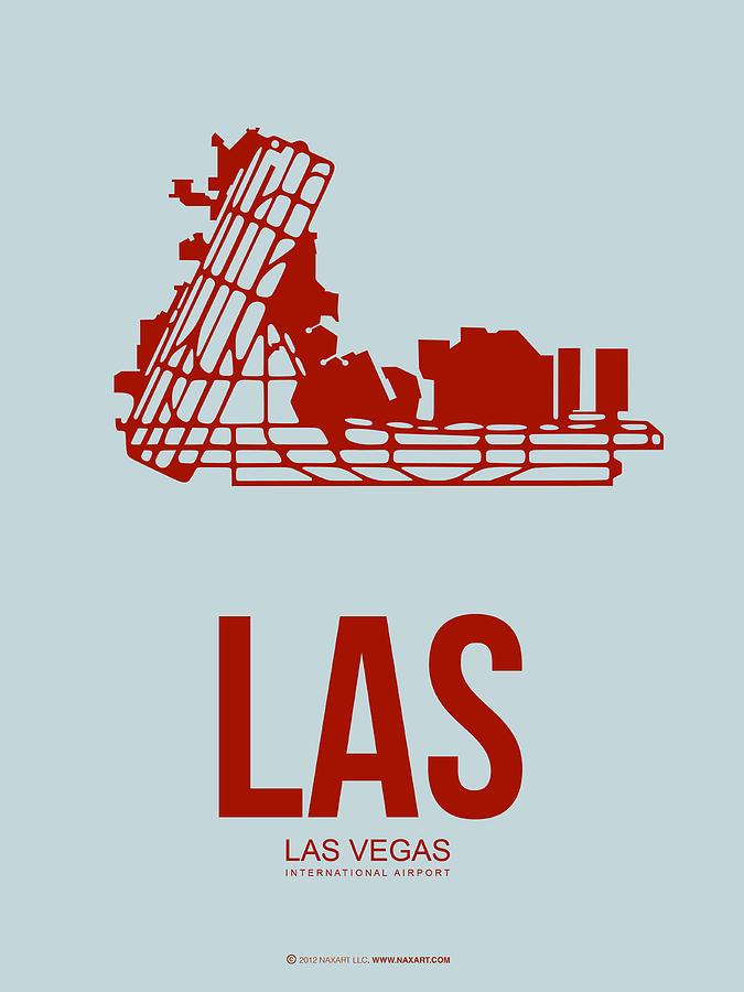 Las Vegas Digital Art - Las Las Vegas Airport Poster 3 by Naxart Studio