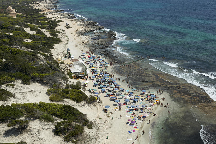 Baleares Photograph - Las Salinas Beach From The Zenith Ibiza by Xavier Durán