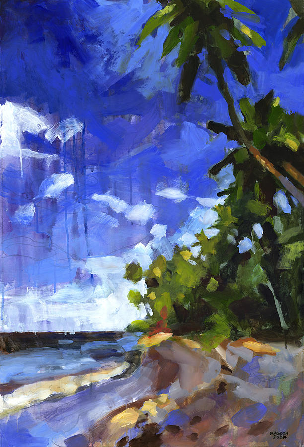 Landscape Painting - Las Terrenas Afternoon by Douglas Simonson