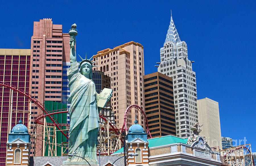 New York Photograph - Las Vegas - New York by Gregory Dyer