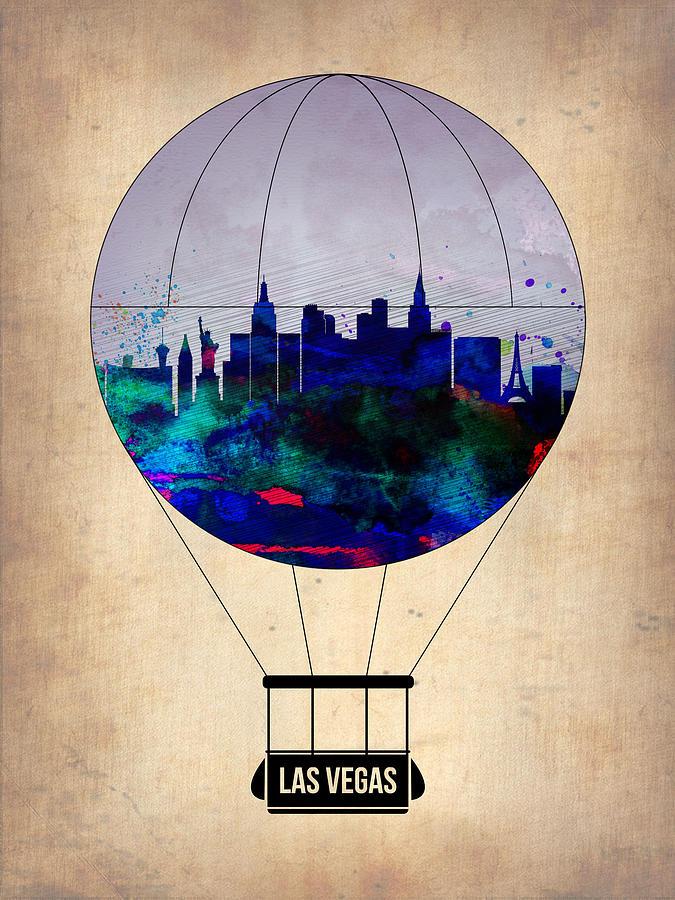 Las Vegas Painting - Las Vegas Air Balloon by Naxart Studio