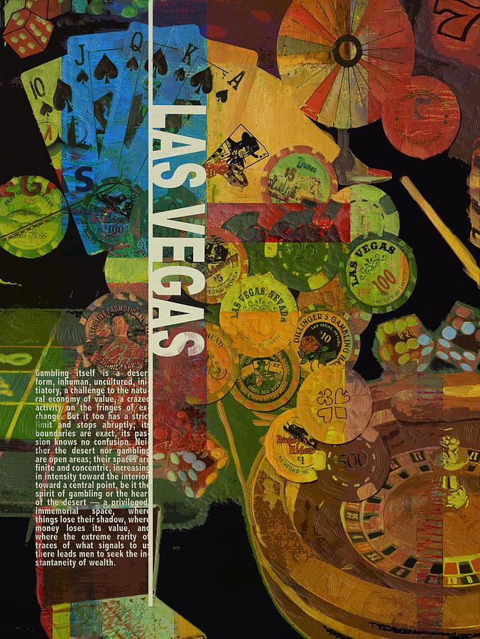 Las Vegas Painting - Las Vegas Compilation by Corporate Art Task Force
