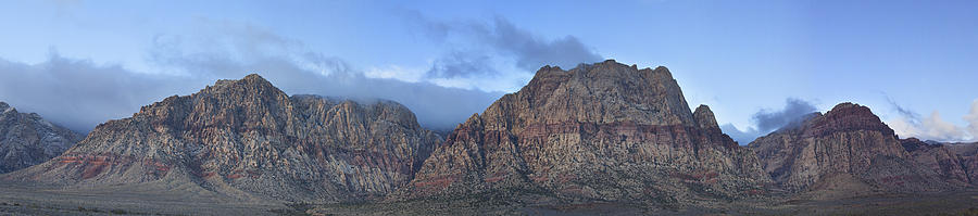 Red Rock Canyon Photograph - Las Vegas Sapphire by Tony Santo