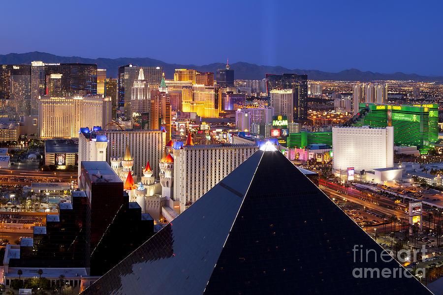 America Photograph - Las Vegas Skyline by Brian Jannsen