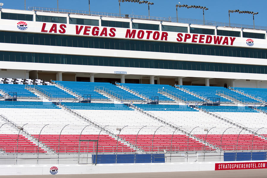 Race Track Wall Art >> Las Vegas Speedway Grandstands Photograph by Gunter Nezhoda