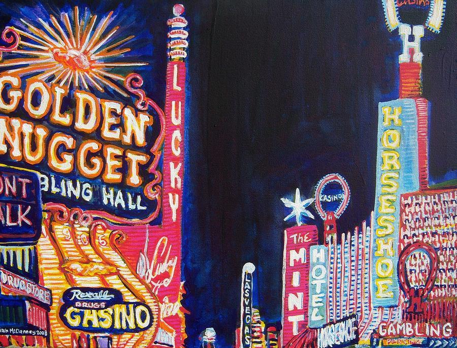 Las Vegas Painting - Las Vegas Strip by Mitchell McClenney