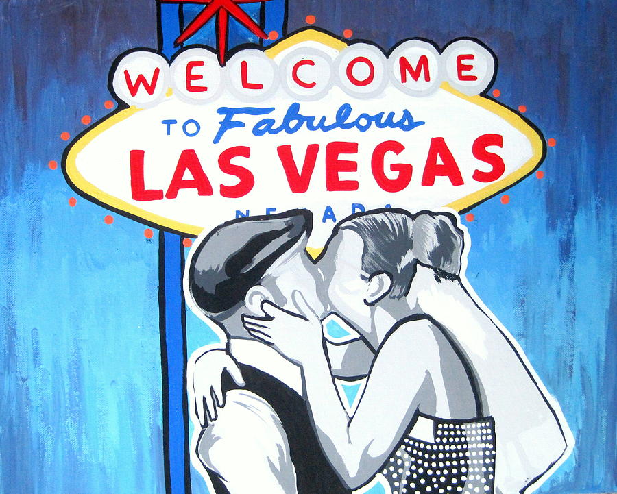 Las Painting - Las Vegas Wedding by Gary Niles