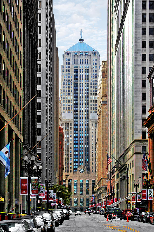 Cbot Photograph - Lasalle Street Chicago - Wall Street Of The Midwest by Christine Till