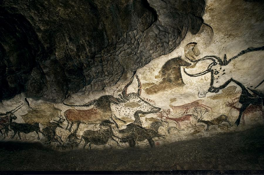 Replica Photograph - Lascaux II cave painting replica by Science Photo Library