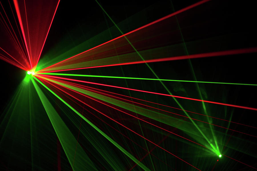Laser Trails Photograph by Nelic