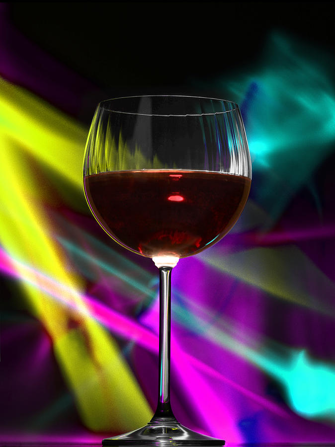 Red Photograph - Laser Wine by Dennis James