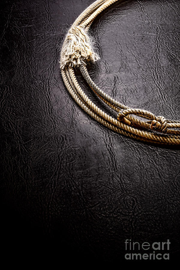 Rodeo Photograph - Lasso On Leather by Olivier Le Queinec