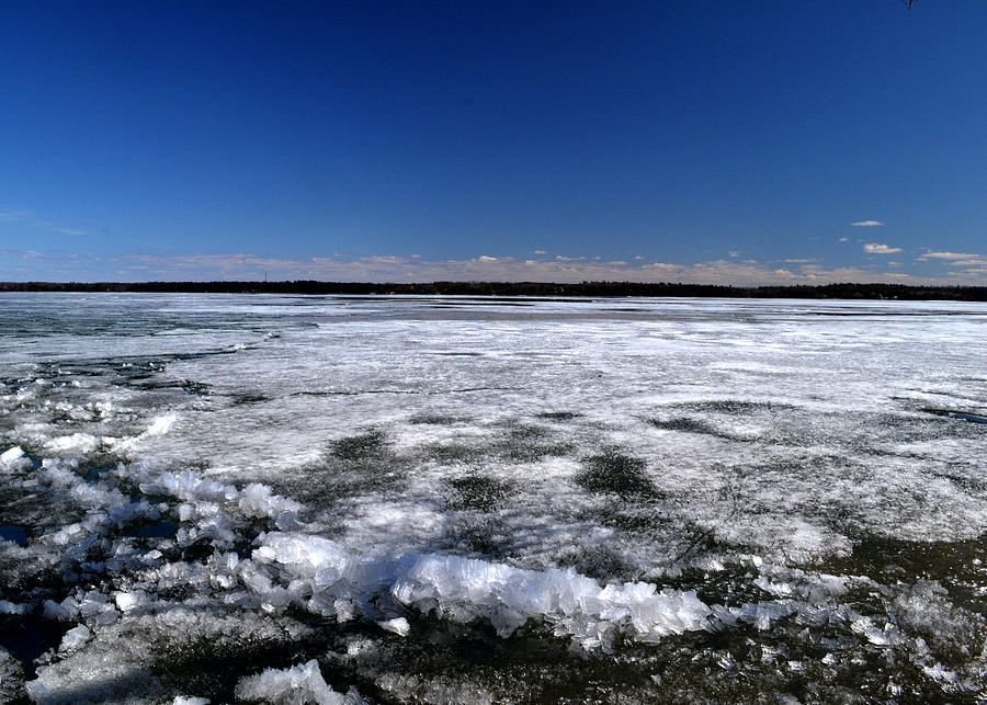 Abstract Photograph - Last Day Of Ice On The Lake 3 by Lyle Crump