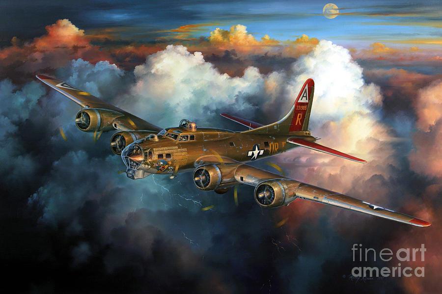 Aviation Art Painting - Last Flight For Nine-o-nine by Randy Green