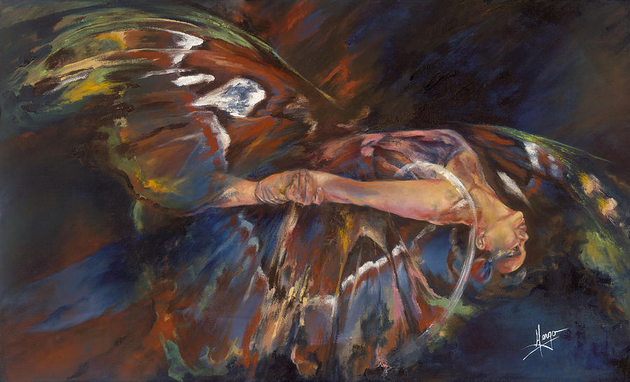 Butterfly Painting - Last Flight by Karina Llergo