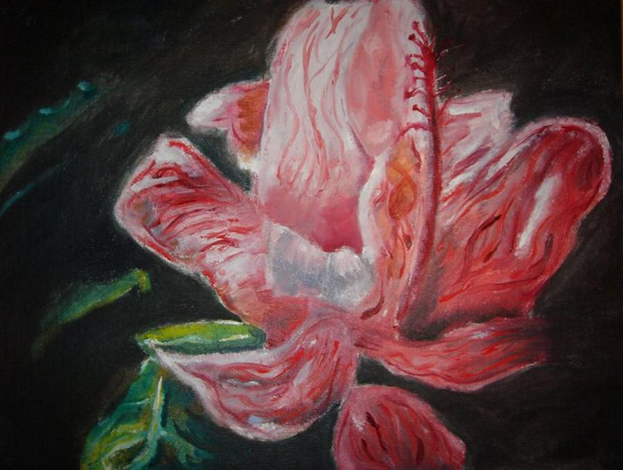 Flower Painting - Last Hoorah For Christy by Andrew Martin