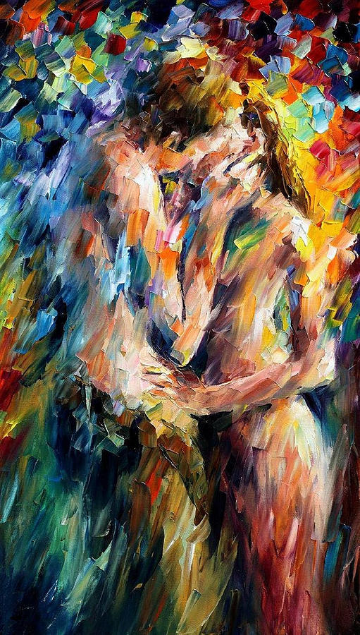 oil paintings painting last kiss palette knife oil painting on canvas by leonid afremov
