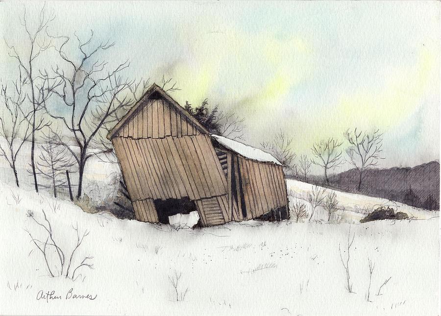 Barn Painting - Last Legs by Arthur Barnes