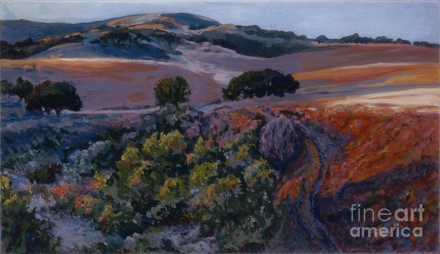 Landscape Painting - Last Light by Betsee  Talavera