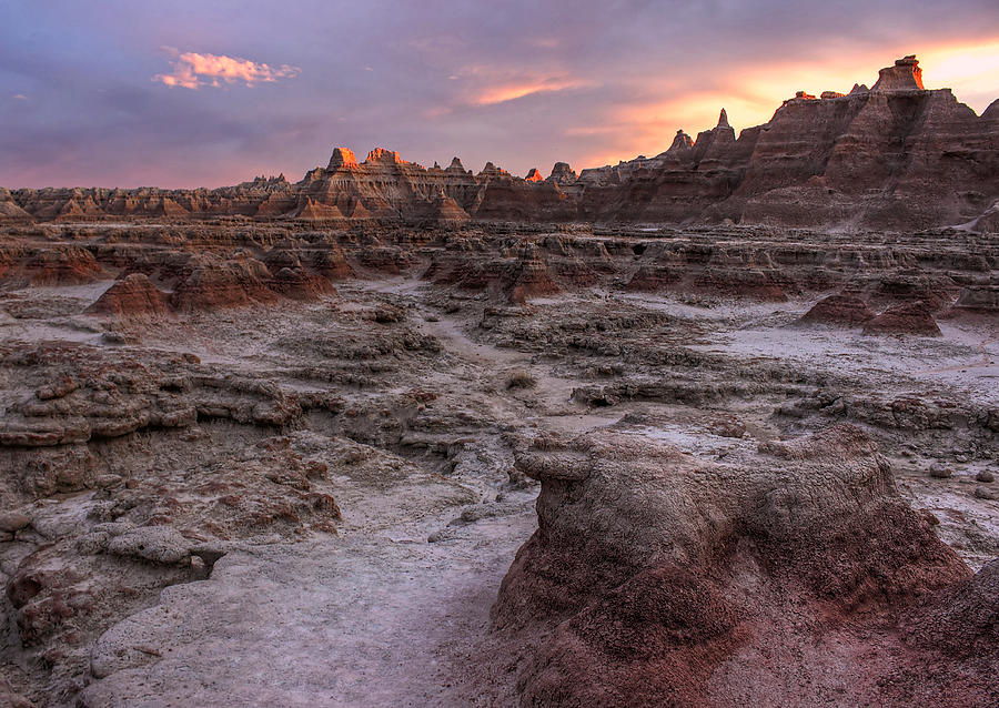 Last Light In The Badlands Photograph