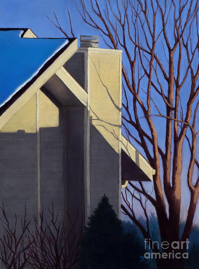 House Painting Painting - Last Light Last Snow by Xenia Sease