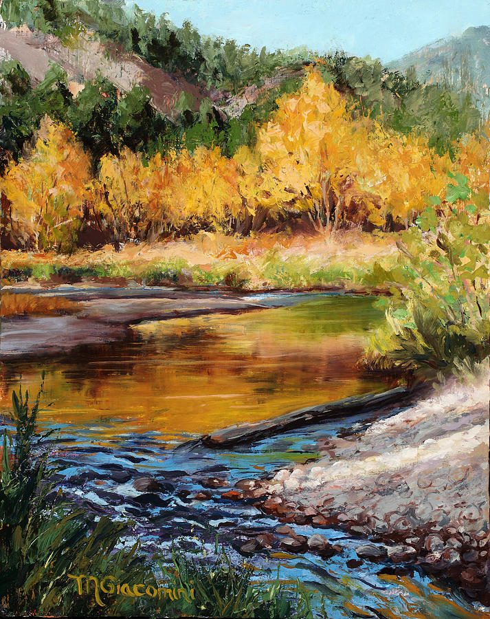 Impressionism Painting - Last Light by Mary Giacomini