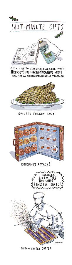 Food Drawing - Last-minute Gifts Put A Stop To Sluggish Dialogue by Michael Crawford