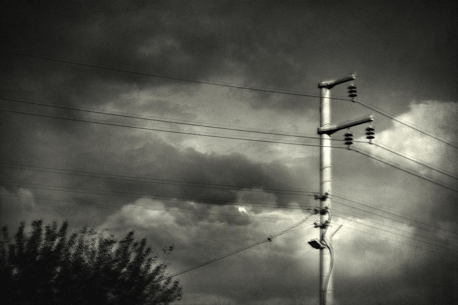 Electricity Wires Photograph - Last Morning by Taylan Apukovska