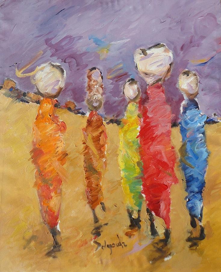 Landscape Painting - Last Of Nuba 2 by Negoud Dahab